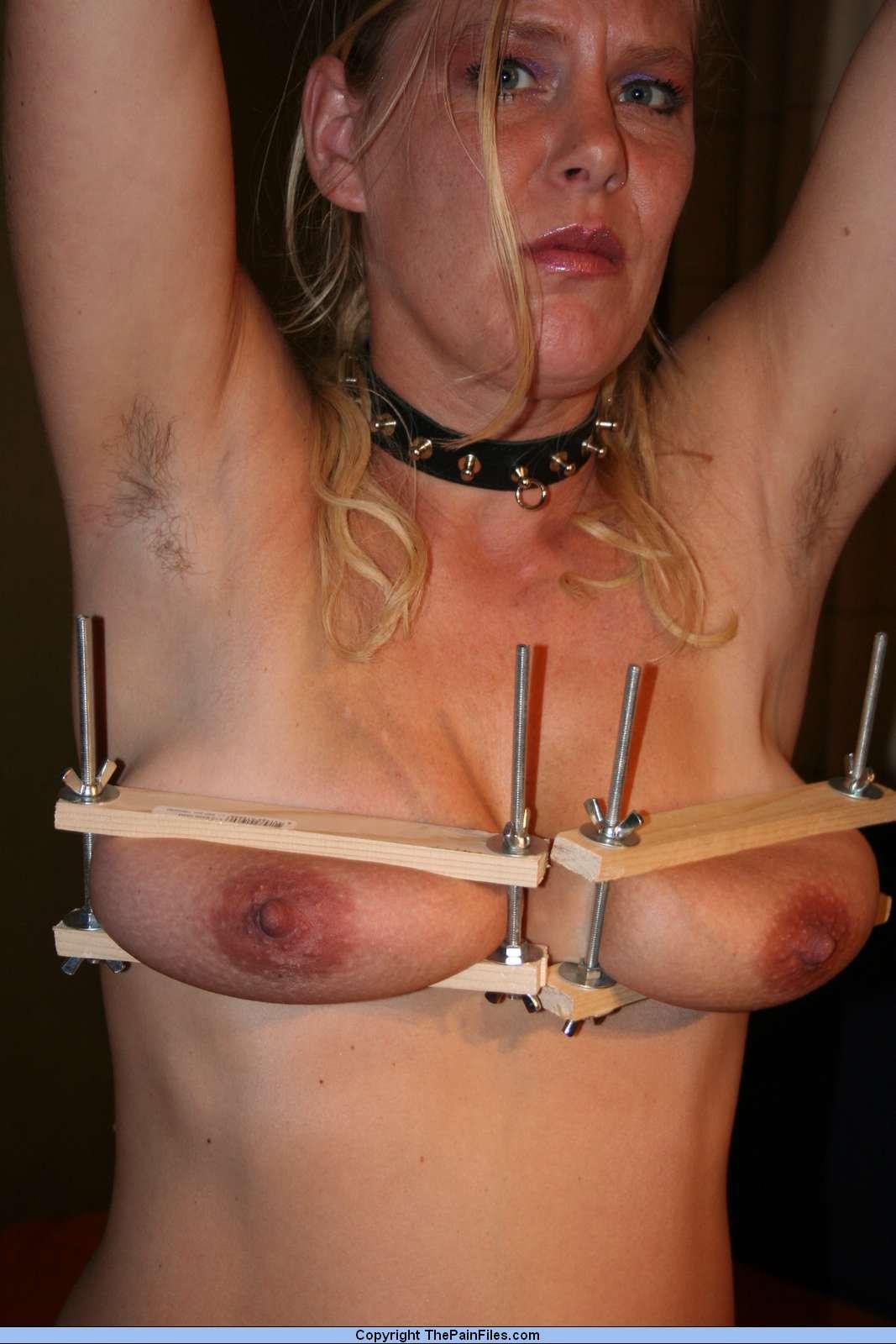Lesbian tit torture